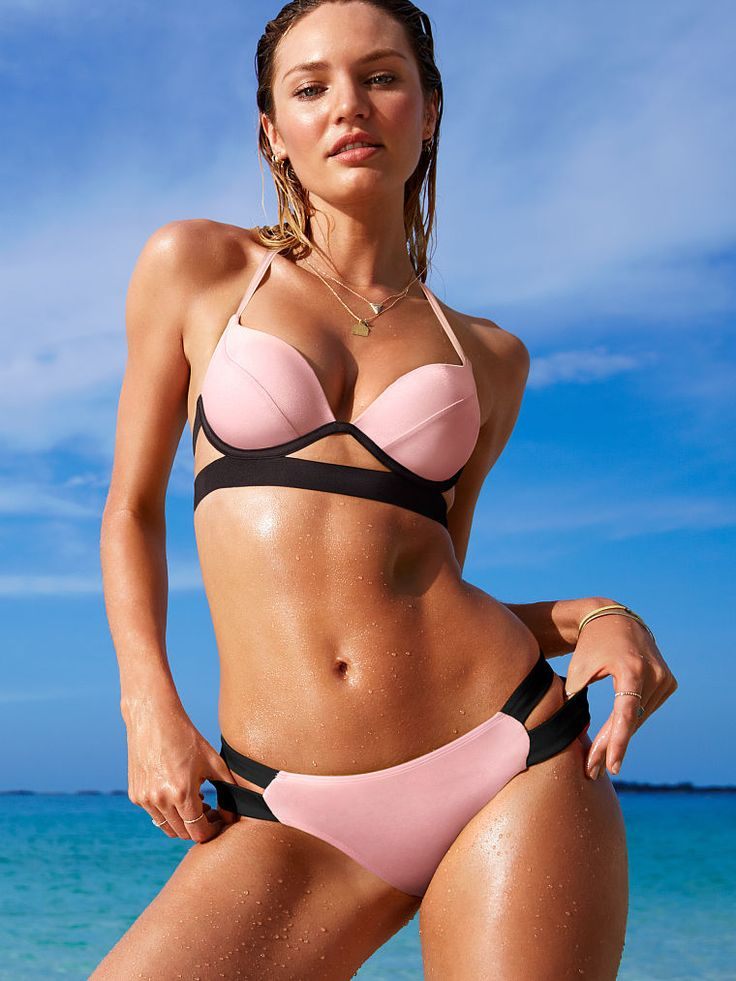 Sexy pink bikini - Hottie Halter by Victoria's Secret for $43.50, 2015. Buy it here: http://justbestylish.com/10-hottest-swimsuits-to-heat-up-your-honeymoon/5/