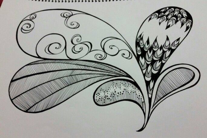 A quick easy Zentangle. JOANNA OSBORNE