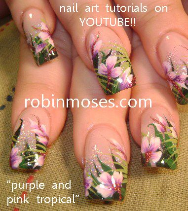 tropical nail art - Google Search