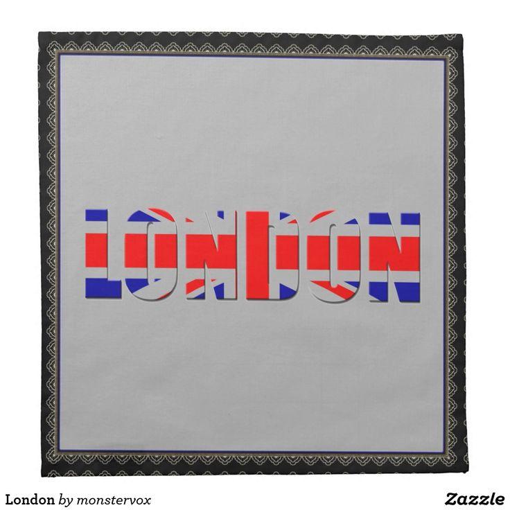 London Napkin #London #England #GreatBritain #UnitedKingdom #British #Home #Decor #Napkin