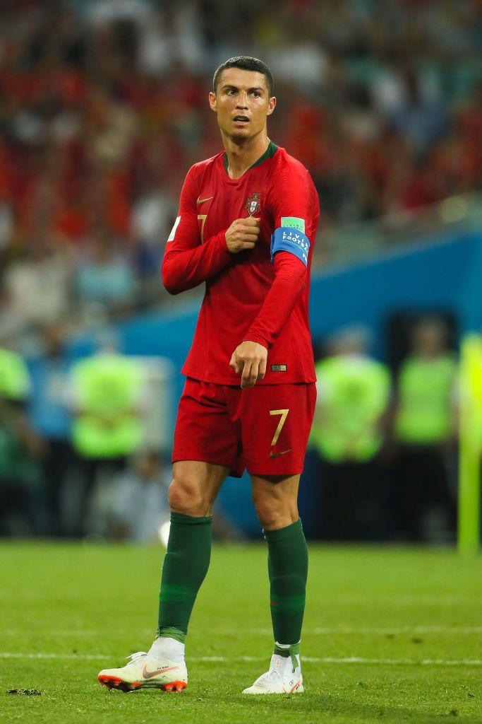 Cristiano Ronaldo Of Portugal Looks On During The 2018 Fifa World Cup Cristiano Ronaldo Ronaldo Crstiano Ronaldo