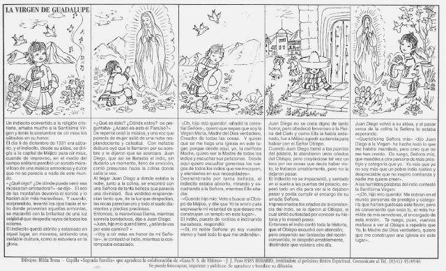 La Catequesis (El blog de Sandra): Virgen de Guadalupe