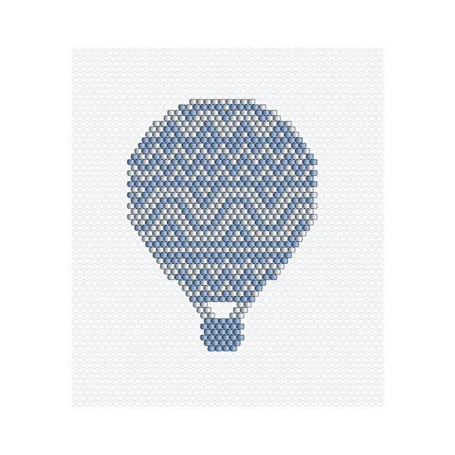 Vous l'avez beaucoup aimé en rose  le voici en bleu ✨petite pensée à @parisi.anais car je lui avais demandé la sienne en bleu #miyuki #perlesmiyuki #miyukidelica #montgolfiere #pastel #blue #geometric #pattern #jenfiledesperlesetjassume #jenfiledesperlesetjaimeca #motifcharlottesouchet Charlotte Souchet ©