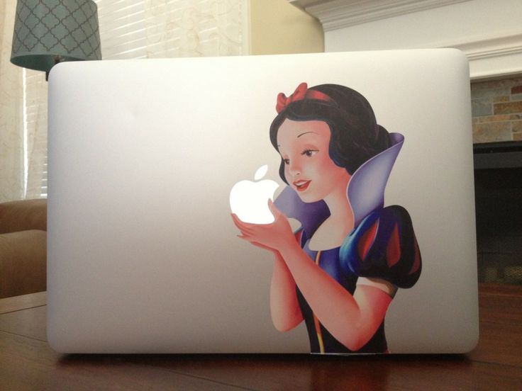 snow white macbook sticker 695 shipped more options With kitchen cabinets lowes with disney laptop stickers