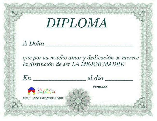 Diploma Para la Mejor Mamá del Mundo