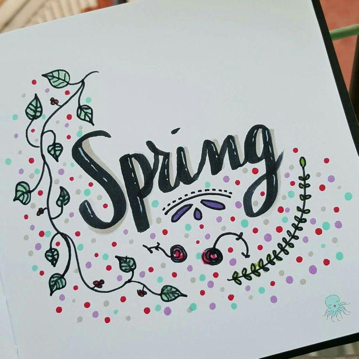 Spring is here!! 🌻🌸🌹🌼 #spring #springishere #lettering #inspirationalquote #quotes #threefeelings  #amytangerine #fangerine #silviadeleonhandmade