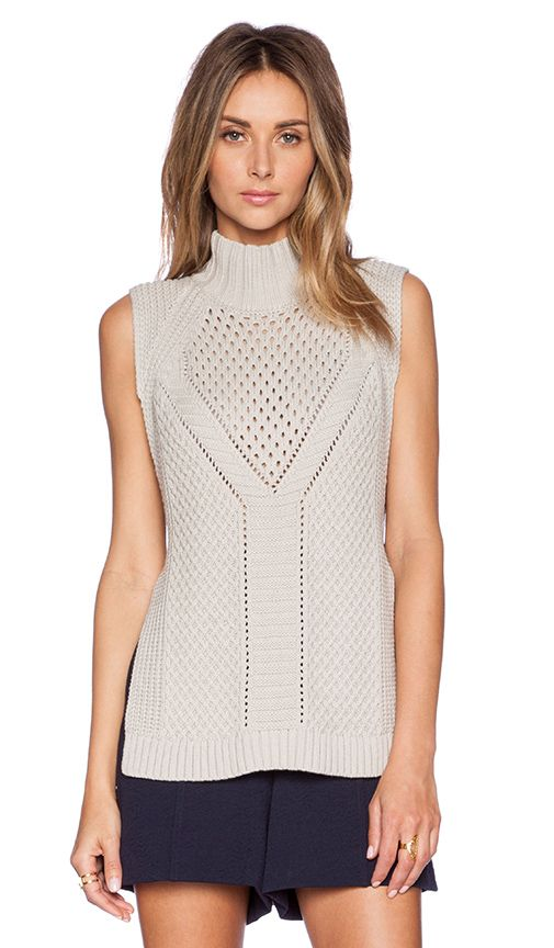 1. STATE Mock Neck Sweater Vest in Pebble Beach | REVOLVE