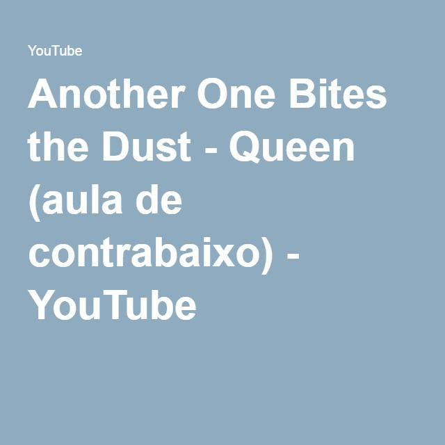 Another One Bites the Dust - Queen (aula de contrabaixo) - YouTube