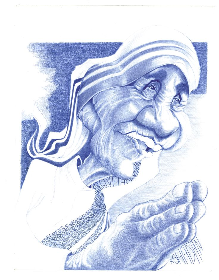 Mother Teresa Caricature Ballpoint pen