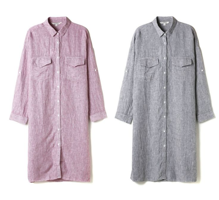 Topten10 Women Boxy Summer Linen Shirts Style Long One-piece Dress_2 options #Topten10 #ShirtDress #Casual