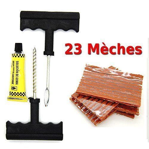 kit de reparation avec mèches pour pneu tubeless – Kit de réparation + Recharge