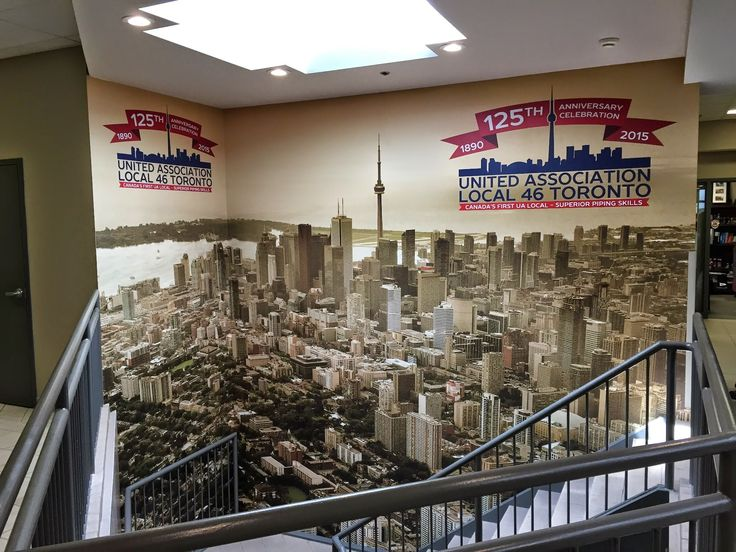 Custom wall mural ideas for your office space #officemurals #customwallart #torontosigns #customwallmurals