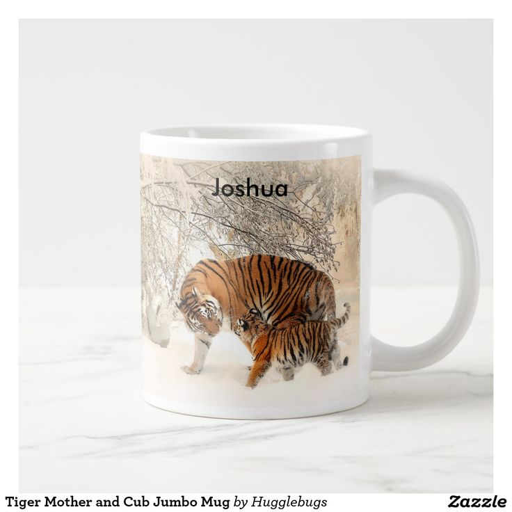 Tiger Mother and Cub Jumbo Mug