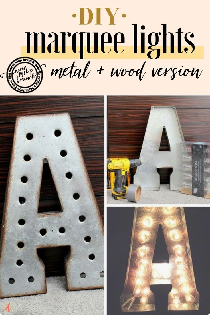 How To Make Diy Marquee Letters 2 Versions Diy Marquee Letters Diy Letters Marquee Letters