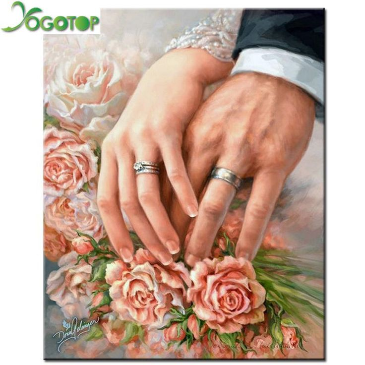 5D Diamond Painting Wedding Rings Kit