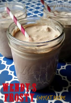 Homemade Wendy's Frosty  This is one of my favorite summertime treats and this recipe is dangerously easy to make with only 3 ingredients!
