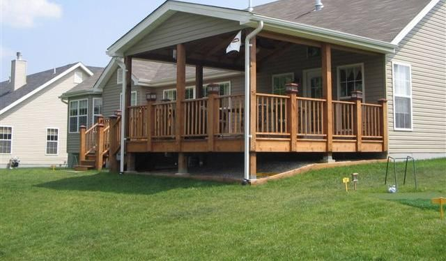 Decks With Roofs Covered Deck Free Standing Deck Designs