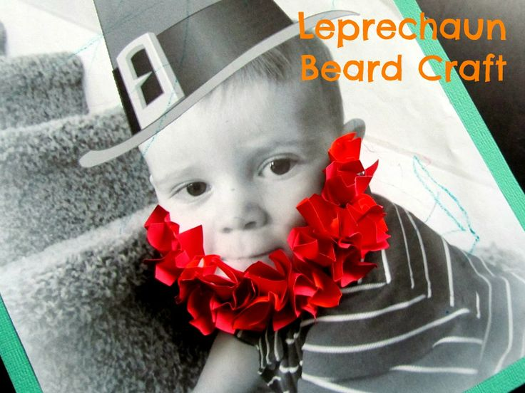 Make leprechaun beard pictures with your kids for St. Patrick's Day.  Fun!