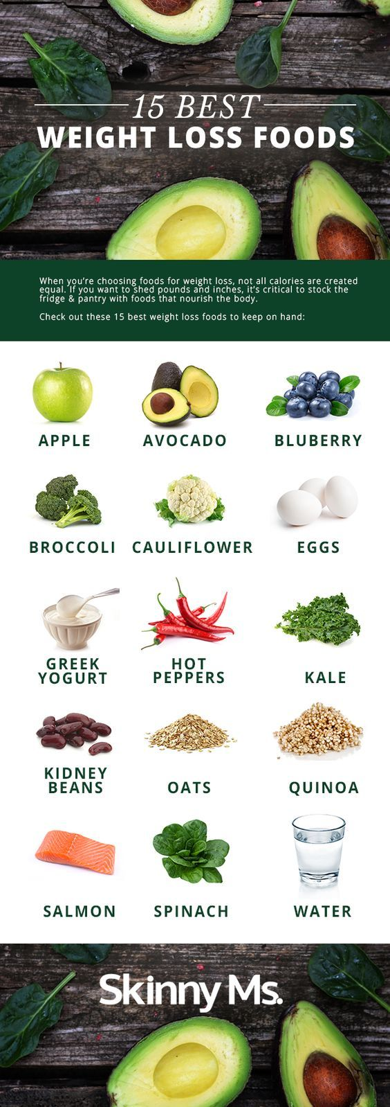 Get the skinny on the foods that you need to eat to lose weight - http://www.naturalhealthtrend.com/the-15-best-weight-loss-foods/