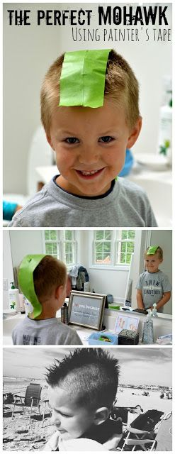 Who knew Frog Tape was so helpful?!?  How to Cut a Perfect Mohawk using Frog Tape! (and some room makeover ideas too!)
