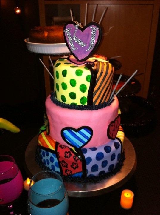 OMFG Romero Britto cake!