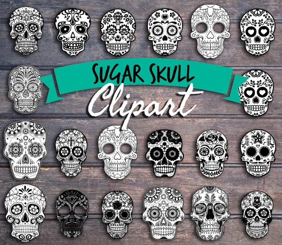 20 sugar skull clip art images  Instant download by SouthPacific (Craft Supplies & Tools, Scrapbooking Supplies, Scrapbooking Clip Art, sugar skulls, dia de los muertos, cinco de mayo, mexican, day of the dead, halloween, skull, skeleton, skull clip art, sugar skull clipart, mexican clipart, skull clipart, halloween clipart)
