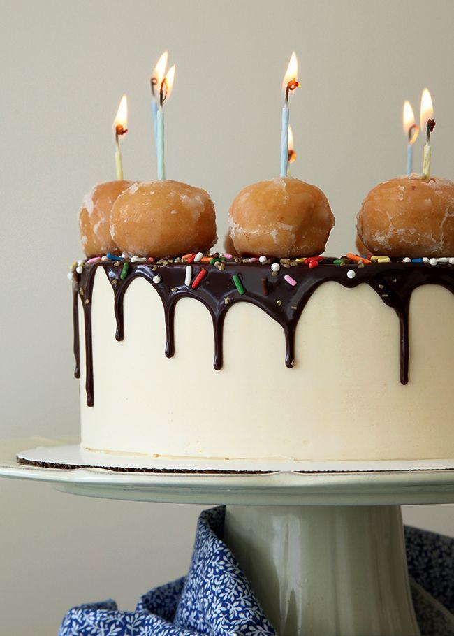 Brett's Peanut Butter Banana Honey Dip Donut Cake!! - Style Sweet CA