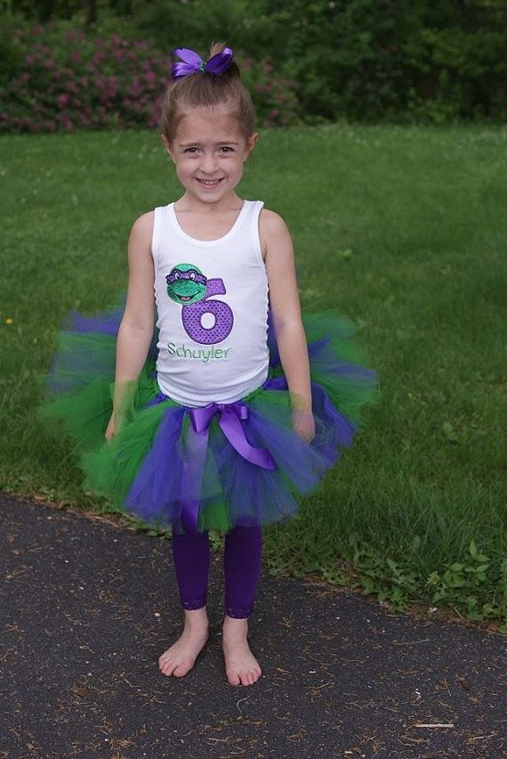 Teenage Mutant Ninja Turtles Birthday tutu by LuresandLaceChildren, $42.50