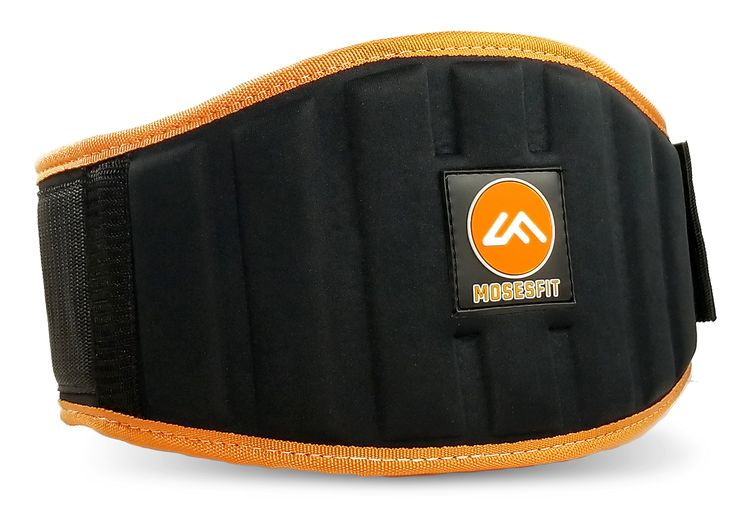 Moses Fit Weight Lifting Belt for Men & Women - Padded Weightlifting Gym Belt for Back, Lumbar, Core Support - for Heavy or Light Workout & Exercise (L-Black, Large). WHILE OTHER ATHLETIC TRAINING BELTS have flimsy support, pop open with heavy lifts, or are just sized incorrectly, the Moses Fit weight belt offers you everything you expect from a premium product → extra lumbar support ; industrial strength velcro good for 10,000 pulls ; meticulously tested sizing chart for a perfect fit…