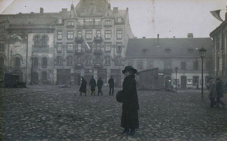 pl. Szczepański, Kraków - 1925 rok, stare zdjęcia