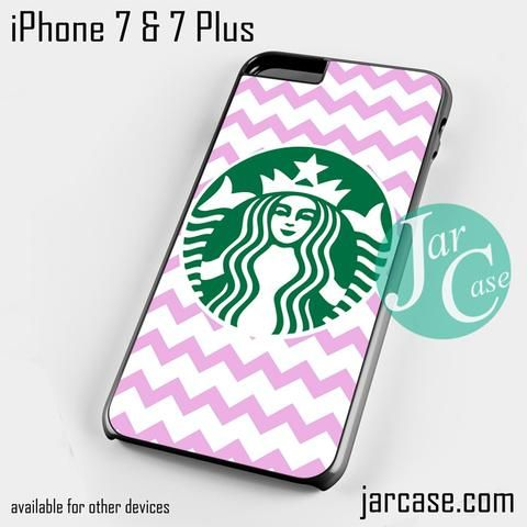 Starbucks Pink Chevron Phone case for iPhone 7 and 7 Plus