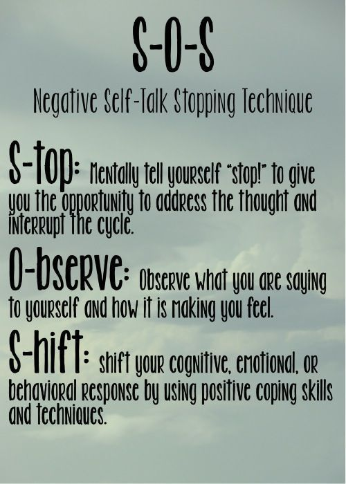 BUT HOW DO YOU STOP THE PATTERN OF NEGATIVE THINKING AND REPLACE IT WITH A MORE POSITIVE MINDSET? HERE IS ONE OF MY FAVORITE POSTERS. PRINT IT AND HANG IT WHERE YOU CAN SEE IT OFTEN.