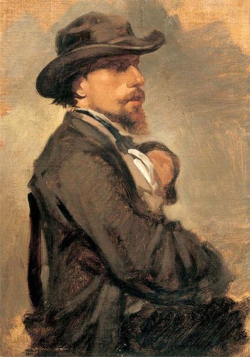 Giovanni Boldini (Italian, 1842-1931), Portrait of Vincenzo Cabianca, c. 1865