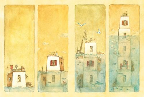 La maison en petites cubes. Kunio Kato y Kenya Hirata.  Recomendado tanto el corto de animación como el cuento ilustrado.