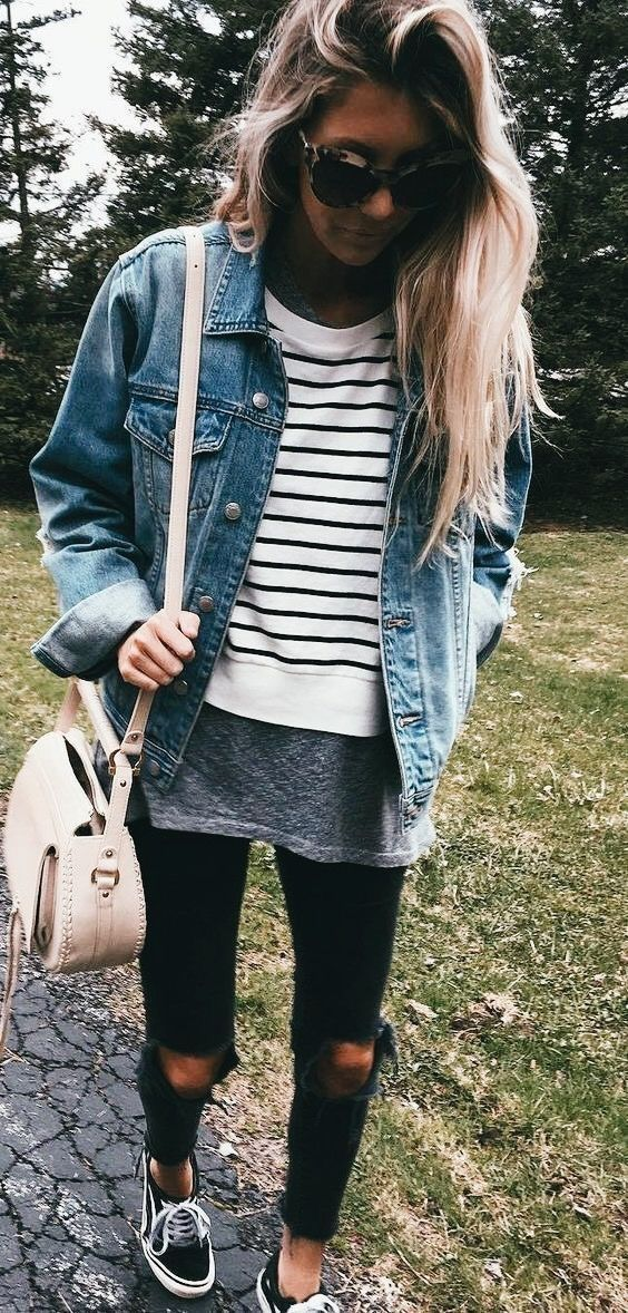 Cute layered outfit.