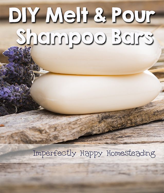 DIY Melt and Pour Shampoo Bars - great for camping, travel or everyday! | ImperfectlyHappy.com