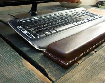 Reposamuñecas de teclado de cuero marrón, soporte del resto de muñeca ergonómico, reposamuñecas, regalo corporativo, resto de teclado de computadora, accesorio de escritorio de teclado