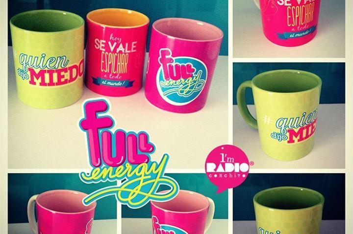 Mugs #FullEnergy, repletos de frases para mover tu mundo y llenarlo de magia. Nada mejor que empezar el día con un té o café y una frase que te motive!!!! Mugs a $23.000 pesos colombianos la unidad. Pedidos a hola@radiocorchito.com.co ---> http://www.radiocorchito.com/fullenergy/