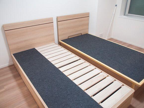 6畳にシングルベッド2台の寝室 狭い 通路は レイアウトの注意点 ウチブログ 狭い部屋 ベッド 寝室 狭いベッドルーム