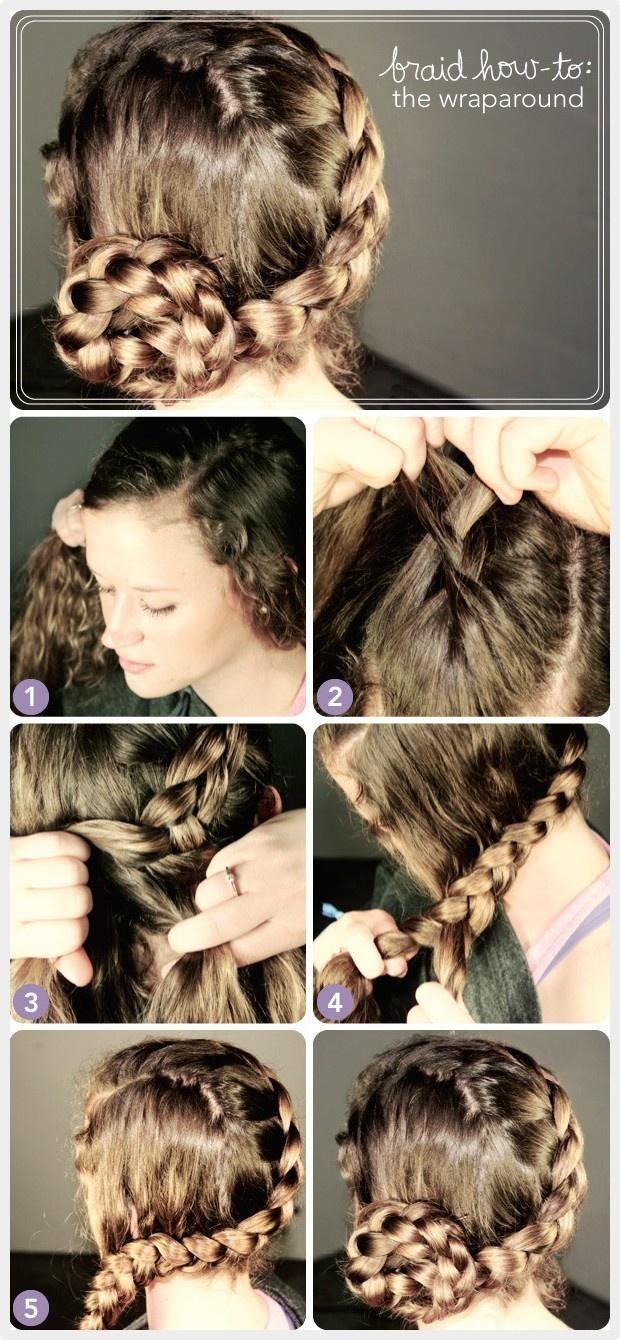 Cool 17 Best Ideas About Wrap Around Braid On Pinterest Perfect Bun Short Hairstyles For Black Women Fulllsitofus