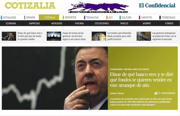 Cotizalia, La Sección de Economía y Bolsa del Confidencial