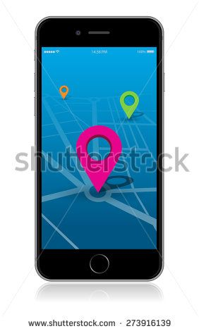 Detailed smart phone vector map location app./Smart Phone Vector Map Location App/Smart Phone Vector Map Location App