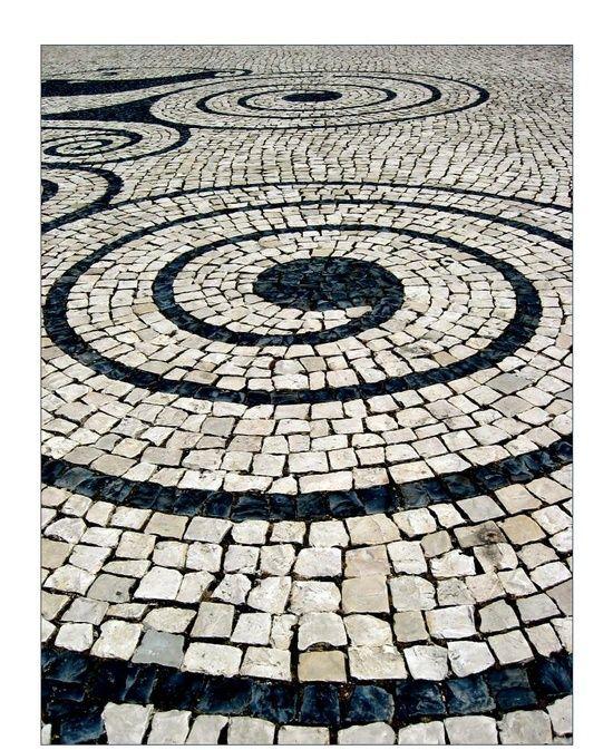 """alwaysonvacationpt: """"Lisbon sidewalk """""""