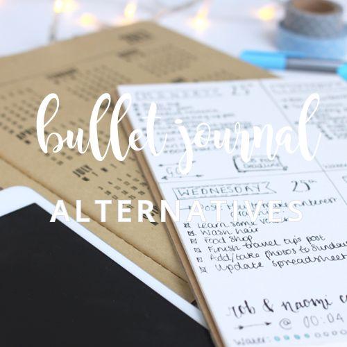 Alternatives to Bullet Journalling