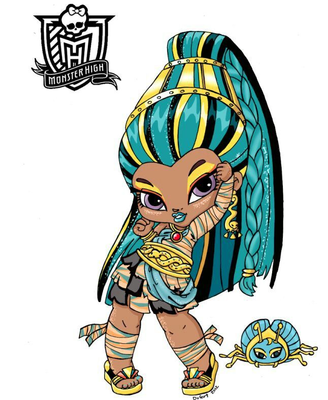 baby monster high character free printable coloring pages - Monster High Chibi Coloring Pages
