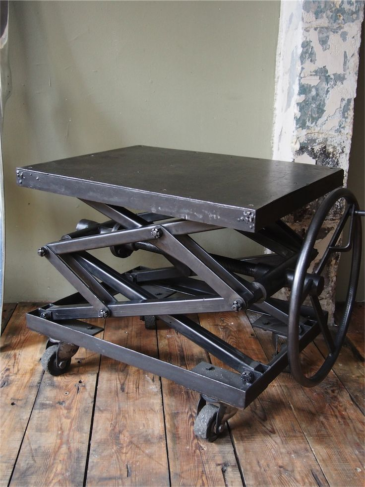 Ancienne Table Elevatrice D 39 Atelier Console Ou Table Basse Atelier Tables Et Consoles