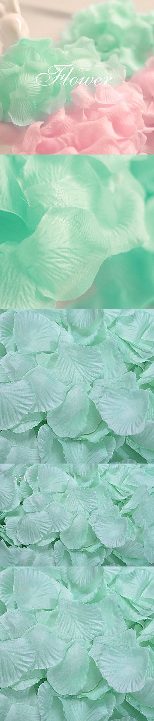 1000Qingsun Rose Petals Artificial Flower Wedding Party Vase Decor Bridal Shower Favor Centerpieces Confetti (Mint Green)