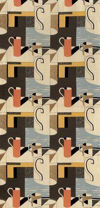 designed by Kenneth Rowntree for Edinburgh Weavers. UK, 1957.