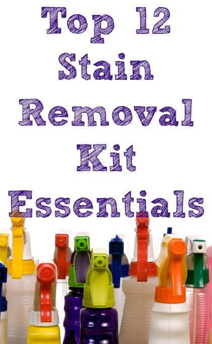 Here's the top 12 supplies and tools to stock in your laundry stain removal kit to make sure you can treat virtually any stain. #ad