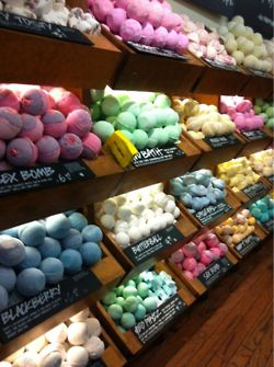 Lush bath bombs..these are so fun and smell unbelievable.